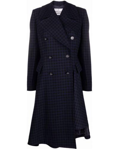 Синее пальто на пуговицах Vivienne Westwood