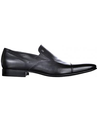 Кожаные лоферы - черные Moreschi