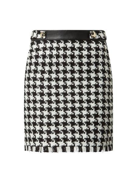 Miękki czarny spódnica mini z zamkiem błyskawicznym frędzlami S.oliver Black Label