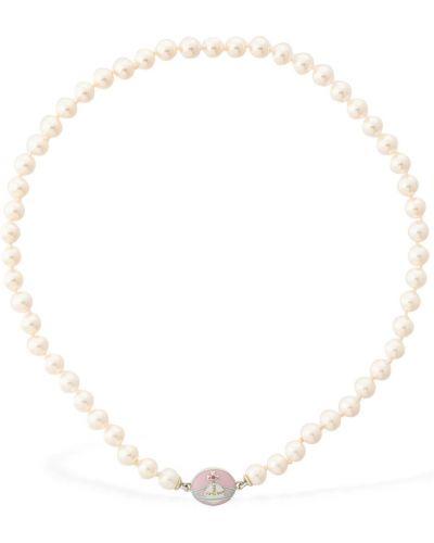 Różowy naszyjnik łańcuch Vivienne Westwood