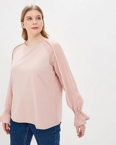 Блузка розовая весенний Lost Ink Plus