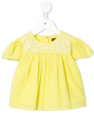 Блузка с короткими рукавами с вышивкой с вырезом Velveteen