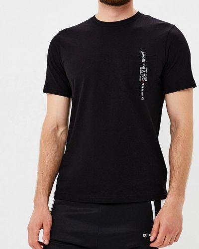 Черная футболка Diesel