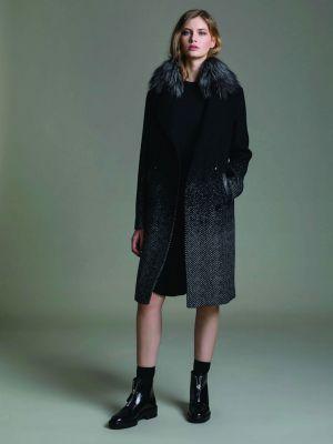 Шерстяное пальто - черное Soia & Kyo