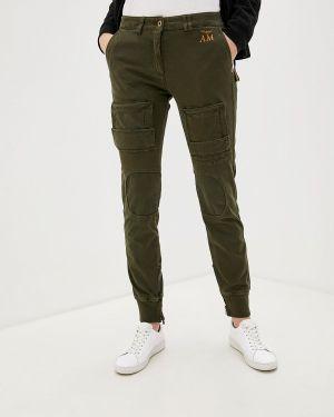 Классические брюки хаки с карманами Aeronautica Militare