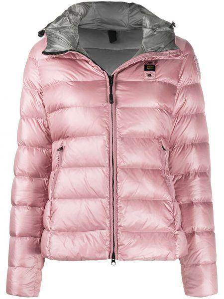 Классическая розовая куртка с капюшоном с карманами с перьями Blauer