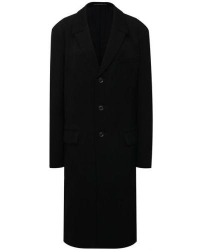Шерстяное пальто с подкладкой Yohji Yamamoto