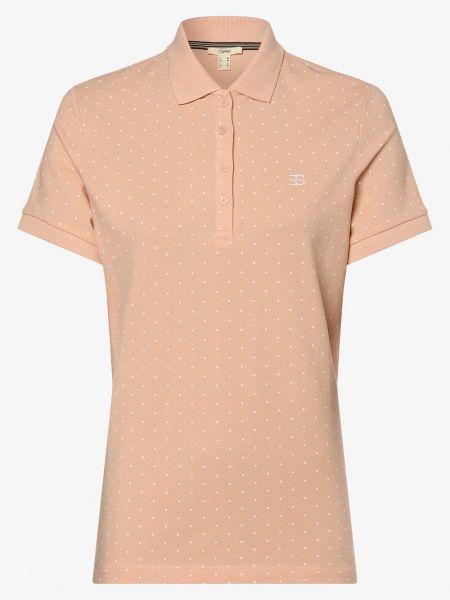 Pomarańczowy t-shirt na co dzień Esprit Casual