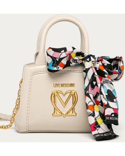 Beżowa torba z krótkimi uchwytami Love Moschino