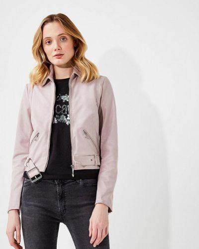 Кожаная куртка весенняя розовая Just Cavalli