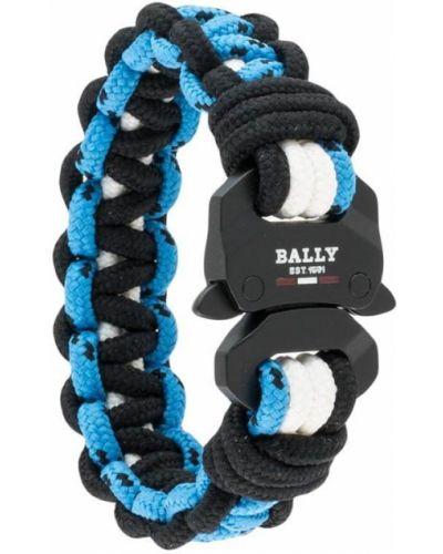 Czarna bransoletka z nylonu klamry Bally
