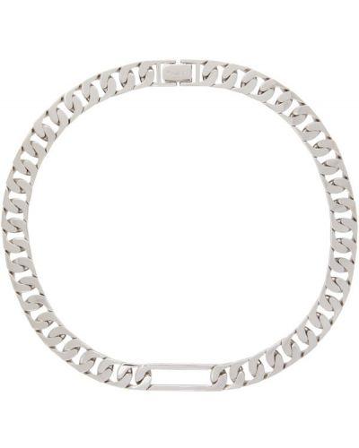 Серебряное ожерелье со шлицей Numbering