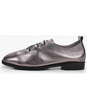 Туфли на каблуке кожаные серебряный Berkonty
