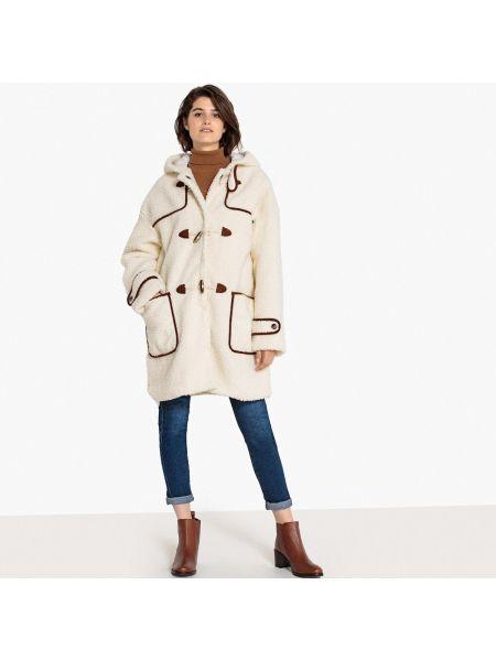 Пальто с капюшоном на кнопках пальто La Redoute Collections