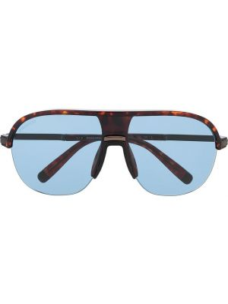 Муслиновые солнцезащитные очки квадратные хаки Dsquared2 Eyewear
