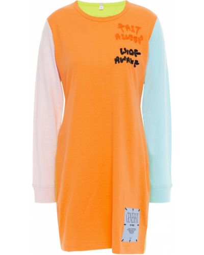 Трикотажное платье мини - оранжевое Mcq Alexander Mcqueen