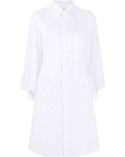 Платье макси на пуговицах с воротником с длинными рукавами с манжетами Comme Des Garçons