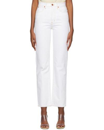 Прямые белые прямые джинсы стрейч Slvrlake