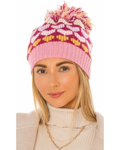 Różowy kapelusz elegancki bawełniany Loveshackfancy