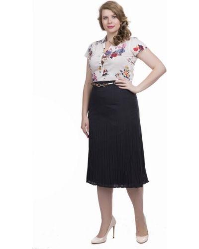 Плиссированная юбка с поясом черная Gerry Weber