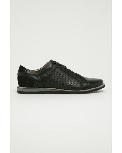 Туфли на шнуровке на каблуке текстильные Wojas