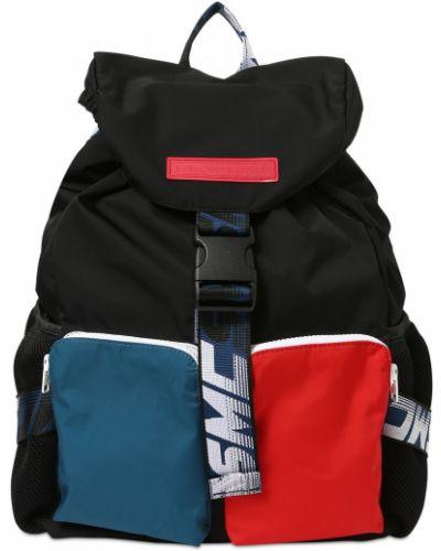 Czarny plecak klamry z nylonu Stella Mccartney Kids