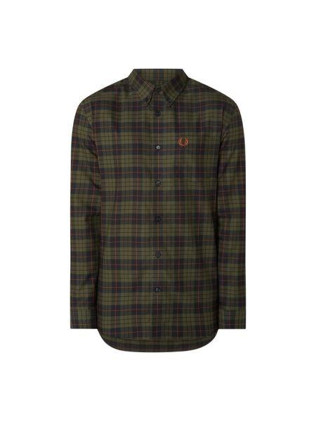 Bawełna koszula oxford z mankietami z długimi rękawami z kieszeniami Fred Perry