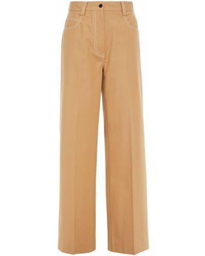 Хлопковые желтые брюки свободного кроя Paul & Joe