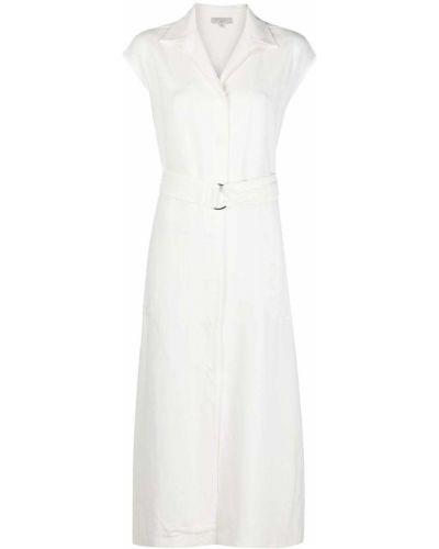 С рукавами белое платье мини с поясом Antonelli