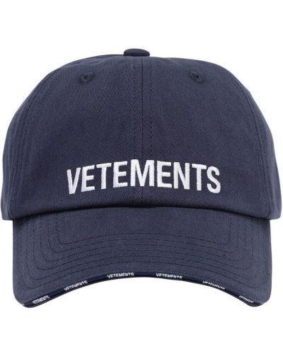 Bawełna z paskiem bawełna czapka z haftem Vetements