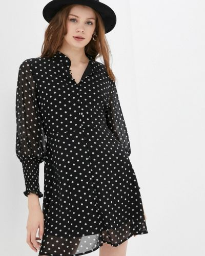 Черное платье-рубашка Zabaione