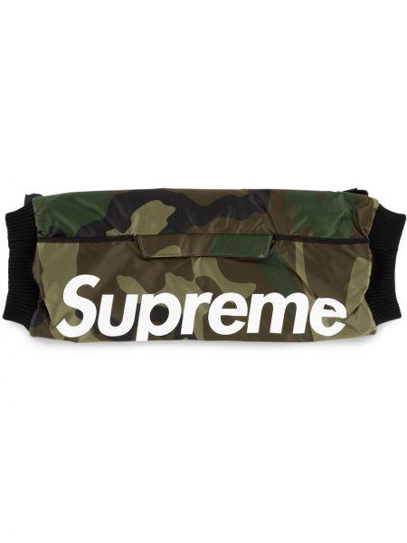 Перчатки с логотипом - зеленые Supreme