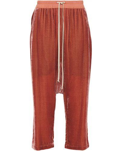 Ażurowe spodnie z jedwabiu Rick Owens