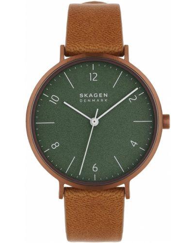 Brązowy złoty zegarek Skagen