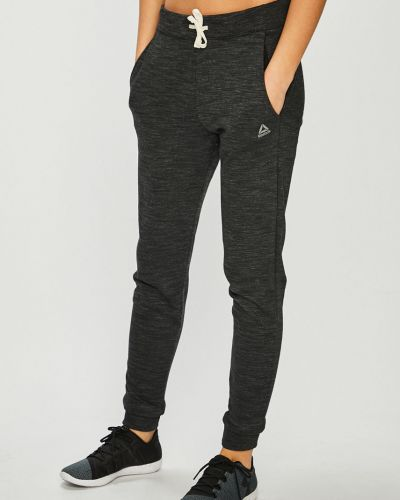 Спортивные брюки на резинке серые Reebok