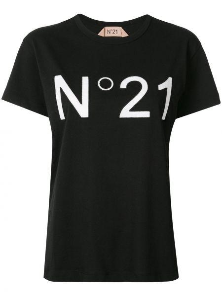 Ватный хлопковый черный топ N°21