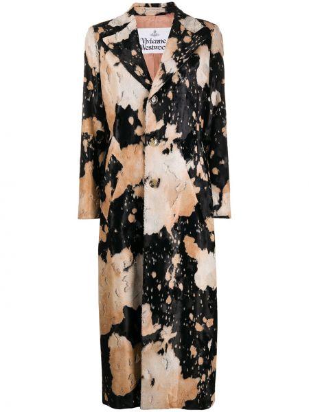 Однобортное с рукавами длинное пальто на пуговицах Vivienne Westwood