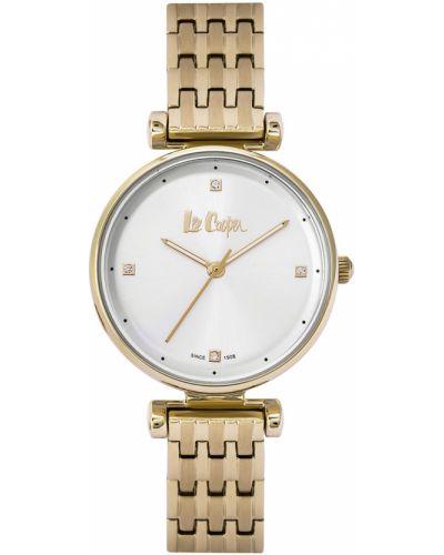 Серебряные часы водонепроницаемые металлические Lee Cooper