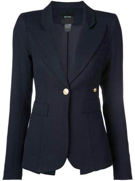 Синяя куртка с манжетами на пуговицах с карманами Smythe