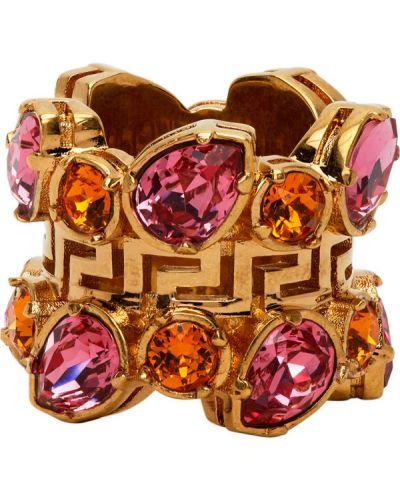 Кольцо розовый хрустальный Versace