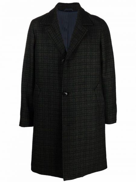 Zielony długi płaszcz wełniany Mp Massimo Piombo