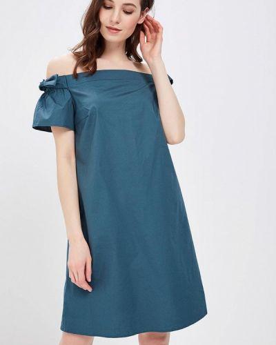 Зеленое платье весеннее Zarina
