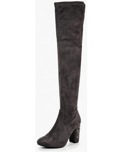 Серые ботфорты Ideal Shoes