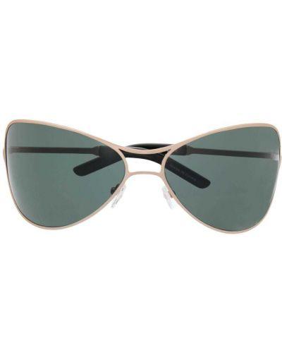 Zielone złote okulary z printem Eytys