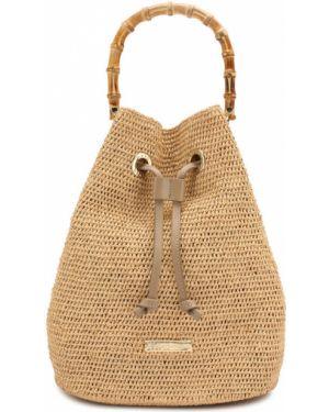 Пляжная сумка бамбуковая с ручками Heidi Klein