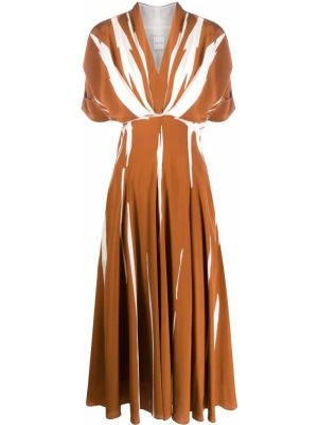 Шелковое платье мини - коричневое Paul Smith