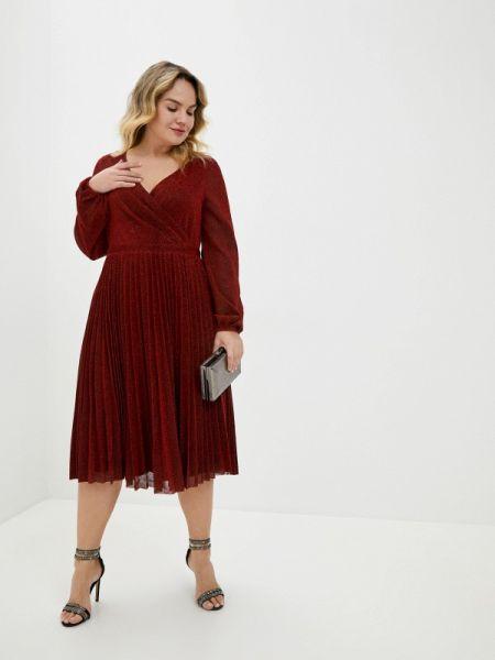 Красное вечернее платье Goddiva Size Plus
