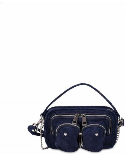 Niebieska torebka sztruksowa Nunoo