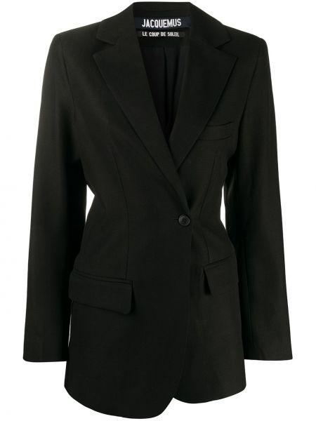 Черный пиджак с карманами на пуговицах Jacquemus