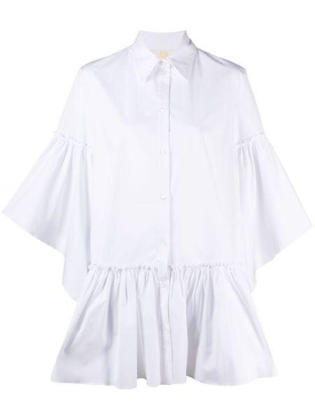 Хлопковая белая рубашка с воротником Sara Battaglia